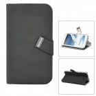 BASEUS LTSAN7100-XY01 PU Flip-Open Case for Samsung Galaxy Note 2 / N7100 - Black