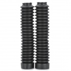 Rubber Motorcycle Front Shock Absorber Protection Dust Cover - Black (2 PCS)