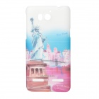 BASEUS UPHWU9508-NY Statue of Liberty Pattern PC Back Case + Screen Guard Set for Huawei U9508