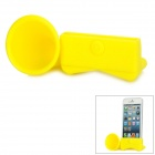 Portable Horn Style Silicone Audio Amplifier for iPhone 5 - Yellow