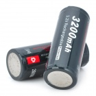"Soshine Rechargeable 3.2V ""3200mAh"" LiFePO4 26650 Batteries Set - Black (2 PCS)"