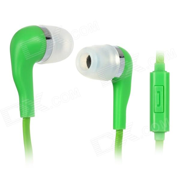 Wallytech WHF-099 3.5mm In-ear Stereo Earphone w/ Microphone - Green