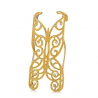 Protective Hollow-Out Imitation Diamond Butterfly Style Plastic Back Case for iPhone 5 - Golden