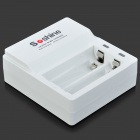 "Soshine Rechargeable 3.2V ""700mAh"" LiFePO4 14500 Batteries w/ Charging Dock - White"