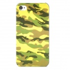 Protective Camouflage Pattern Plastic Back Case for iPhone 4 / 4S - Green + black