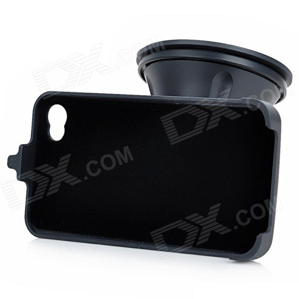 GD004 360 Degree Rotatable Car Holder for Iphone w/ Suction Cup for Iphone 4 / 4S - Black 360 degree rotatable car suction cup mount holder for iphone 3g 4 4s black