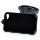 GD004 360 Degree Rotatable Car Holder for Iphone w/ Suction Cup for Iphone 4 / 4S - Black