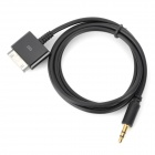 Apple 30-Pin to 3.5mm Male to Male Audio Cable for iPhone 4 / 4S / iPad 2 / The New iPad - Black