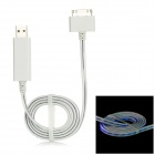 USB Male to Apple 30 Pin Charging / Data Cable for iPhone 4 / 4S + iPad - White (80cm)