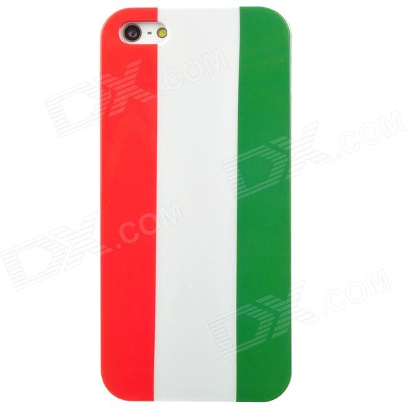 Protective Italy Flag Pattern Back Case w/ Screen Protector for Iphone 5 - White + Red + Green asus zenwatch 3 wi503q silicon