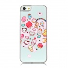 Protective Cute Cartoon Pattern w/ CrystalBack Case - Light Blue + Pink