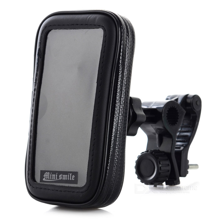 360 Degree Rotatable Motorcycle Mount Holder w/ Waterproof Bag for Iphone 4 / 4S - Black 360 degree rotatable motorcycle mount holder w waterproof bag for iphone 4 4s black