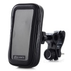 360 Degree Rotatable Motorcycle Mount Holder w/ Waterproof Bag for Iphone 4 / 4S - Black