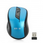 JS-W02 2.4GHz 500 / 1000dpi Wireless Optical Mouse - Blue + Black