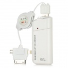 2 x AA Powered USB Notfall-Ladegerät w / LED Flashlight for iPhone 4 / 4S / 5 + More - Weiß