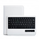 Bluetooth V3.0 59-Key Keyboard w/ Protective PU Leather Case Stand for Ipad MINI - White