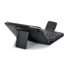 Bluetooth V3.0 59-Key Keyboard w/ Protective PU Leather Case Stand for Ipad MINI - Black
