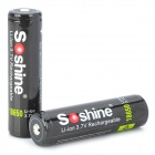 "Soshine Rechargeable 3.7V ""3400mAh"" Li-Ion 18650 Batteries Set - Black (2 PCS)"