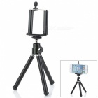 360' Rotation Adjustable Holder Bracket + Retractable TrIpod for Iphone 4 / 4S / 5 - Black + Silver
