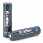 "Soshine Rechargeable 3.2V ""1800mAh"" LiFePO4 18650 Batteries Set - Black (2 PCS)"