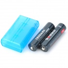 "Soshine recargable 3.2V ""1800mAh"" baterías LiFePO4 18650 Set - Negro (2 PCS)"