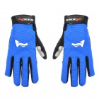 ACACIA 0394018 Protective Bicycle Cycling Full Finger Gloves - Blue + Black (XL)