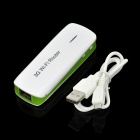 MPR-L8 3G 802.11/b/g/n 150Mbps Wi-Fi Wireless AP Portable Power Router - White + Green