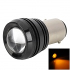 1157 3W 200lm 1-LED Yellow Light Car LED Bulb - Black + Silver (12V)