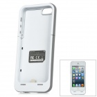 Rechargeable 2500mAh External Battery Protective Case for iPhone 5 - White