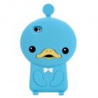 Cute Duck Style Protective Soft Silicone Back Case for Iphone 4 / 4S - Blue