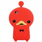 Cute Duck Style Protective Soft Silicone Back Case for Iphone 4 / 4S - Red