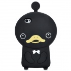 Cute Duck Style Protective Soft Silicone Back Case for Iphone 4 / 4S - Black
