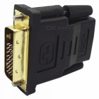 GreenConnection 20124 DVI-D (24+1) Male to HDMI Female Adapter - Black + Golden