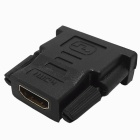 DVI-D (24+1) Male to HDMI Female Adapter - Black + Golden