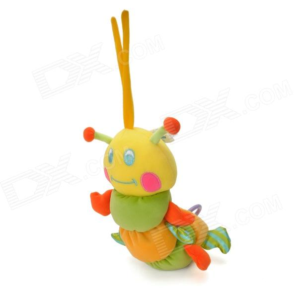 Lokyee 0011 Cute Caterpillars Sound Bell Plush Hanging Doll Toy for Babies - Green + Yellow + Orange