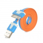USB 2.0 to Apple 30Pin Data Cable for iPhone 4 / 4S - Blue + Orange (1m)