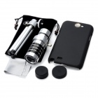12X Optical Zoom Telescope Camera Lens w/ Back Case for Samsung Galaxy Note 2 N7100 - Silver + Black