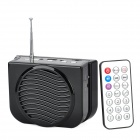ADS ADS-3 Portable Rechargeable Speaker w/ TF Card Slot / FM / Microphone / Remote - Black + Silver