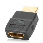 GreenConnection 20135 HDMI Male to Female Adapter - Black + Golden