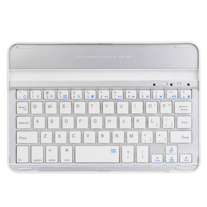 Bluetooth V3.0 Ultra Thin Aluminum Alloy 59-Key Keyboard for Ipad MINI - Silver
