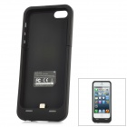 Rechargeable 2500mAh External Battery Protective Case for iPhone 5 - Black