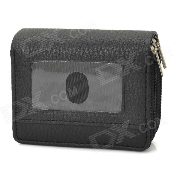 Retro Multi-layer PU Leather Wallet - Black