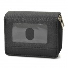 Retro Multi-Layer-PU Leather Wallet - Black