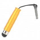Universal Stylus Pen w/ 3.5mm Audio Jack Anti-Dust Plug for Iphone - Golden