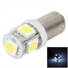 Lgfox BA9S 5-5050 SMD LED 1.2W 80lm 6500K White Light Car License Plate / Reading Lamp (DC 12V)