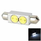 Lgfox 42mm-2W Festoon 42mm 2W 32lm 2-LED White Car Dome / Reading Light (DC 12V)
