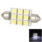 Lgfox Festoon 42mm 2.88W 126lm 9-5050 SMD LED White Light Car Dome Lamp (DC 12V)
