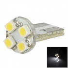 Lgfox 39mm-4led T10 0.2W 32lm 4-LED White Car Steering Light (DC12V)