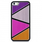 Protective Aluminum + Plastic Back Case for iPhone 5 - Pink + Golden + Purple + Deep Pink