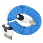 USB Male to Apple 30pin Male Charging & Data Sync Cable - Black + White + Orange + Blue (100cm)